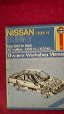 Haynes Owners Workshop Manual - Nissan/Datsun Sunny  1982 - 1986