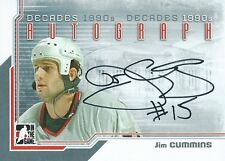 (HCW) 2013-14 ITG Decades 1990's JIM CUMMINS Autograph Auto In The Game 01354