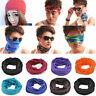 Solid Colors Bandana Head Face Mask Tube Snood Beanie Scarf Neck Gaiter Headwear