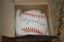Johnny Vandemeyer Autographed Ball