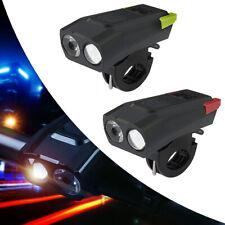 LED USB Fahrradblendung Fahrradlampe Fahrradlicht Scheinwerfer Rücklicht SET DHL