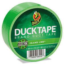 """Duck Colored Duct Tape, 1.88"""" X 15yds, 3"""" Core, Neon Green"""