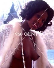 1970s NUDE 8X10 BUSTY BIG NIPPLES UNKNOWN EBONY PHOTO FROM ORIGINAL NEG-UE4