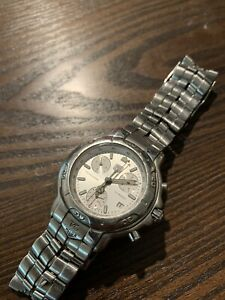 Mens Tag Heuer 6000 SS Professional Chronograph Watch - Silver Dial - CH1110