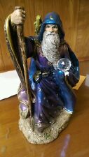 Large WINDSTONE Peacock WIZARD Parrot Dragon Swarovski Ball Purple Blue FIGURINE