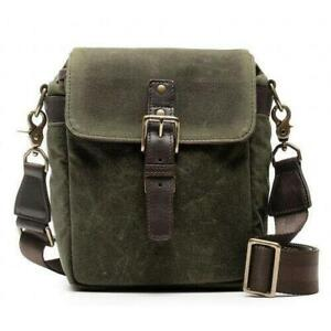 Brand New ONA Bond Street Waxed Canvas Camera Bag (Olive)