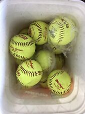 "1 Dozen (12) used or 7 game ready 11"" softballs Rif 10 or Rif 1"