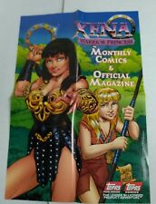 Xena Warrior Princess Comics/Magazine promo poster (Topps '97) J Scott Campbell