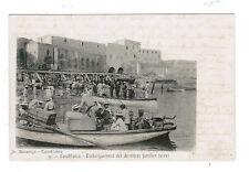 JUDAICA POSTCARD CASABLANCA MOROCCO JEWISH FAMILIES ESCAPE RIOTS 1912