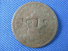 1823 PROVINCE OF NOVA SCOTIA HALF PENNY TOKEN COUNTER STAMP 1812