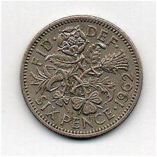 Gran Bretaña 6 peniques 1962 Elizabeth II