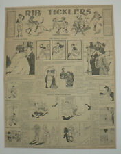 "1903 Original Newspaper Comics Page, ""Rib TIcklers"", Excellent"