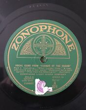"RARE 78RPM 12"" ZONOPHONE LIGHT OPERA COMPANY VOCAL GEMS FROM YEOMEN GUARD PT 1/2"