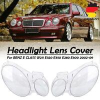 Paar Links+Rechts Scheinwerferglas Streuscheibe Für Mercedes Benz W211 2002-2009