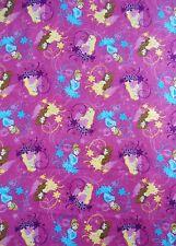 Disney Princess Flannel Fabric Belle Aurora Cinderella Royal Debut Badges Toss