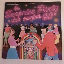 """2 x 33T SURPRISE PARTY DES ANNEES 60 Vinyles LP 12"""" HALLYDAY VOLCANO SHEILA NASH"""