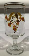 Jewel Tea-Autumn Leaf Clear Stemmed Glass