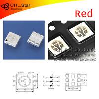 100PCS SMD SMT 5050(2020) PLCC-6 3-CHIPS LED Red Light Emitting Diodes Chip