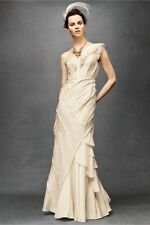 BHLDN Brand New Ribboned Silk Gown