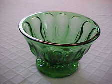 Vintage Glass Emerald Green Footed Bowl/Candy Dish