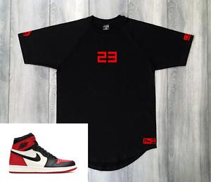 T-Shirt To Match Air Jordan 1 OG Red 23 Tee Streetwear Sneaker Clothing Mens New
