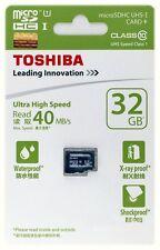 32GB Micro SD Toshiba SDHC MicroSDHC MicroSD Class 10 Memory Card 40MB/s 32 GB