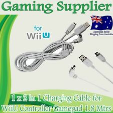 USB Data Charging Charger Cable Cord for Nintendo WII U Gamepad Controller