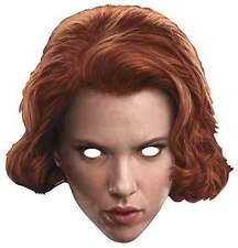 Black Widow Avengers Age of Ultron Card Off'l Party Face Mask Scarlett Johansson