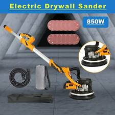 850W Extendable Drywall Sander Wall Grinding 12 Sanding Disks Dual LED Stripe