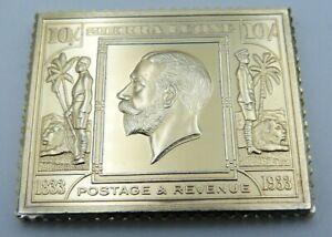 Empire Collection Silver Ingot - British Colonies Africa Sierra Leone 10/- 1933