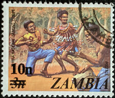 Stamp Zambia 1979 10n on 3n National Dancing Troupe Used