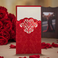 30 Set Red Wedding Banquet Party Invitation Cards Envelopes Seals Custom Print