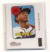OZZIE ALBIES RC 2018 TOPPS HERITAGE HIGH NUMBER 1969 MINI DECAL #69TD-OA ROOKIE