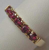 Ring mit 5 Rubinen ruby Rubinring in 14 Kt. 585 Gold Finger Damen Ringe Gr. 53