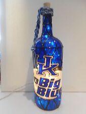 University of Kentucky  Inspired Wine Bottle Lamp Lighted Handpainted