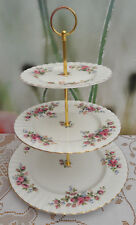 """Royal Albert """"Moss Rose"""" XL 3-tier Cake stand"""