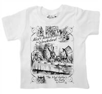 Dirty Fingers Baby T-shirt Alice's Adventures in Wonderland Mad Hatter Tea Party
