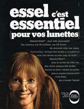PUBLICITE ADVERTISING   1970   ESSEL  verres de lunettes 2