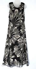 JACQUES VERT (UK12 / EU40) BLACK/CREAM LINED COWL-NECK SLEEVELESS DRESS - NEW