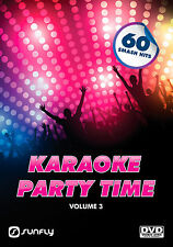 PARTY TIME VOL 3  SUNFLY KARAOKE DVD - 60 HIT SONGS