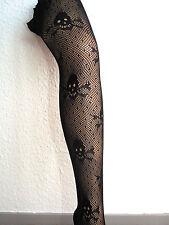 Totenkopfstrumpfhose Neu!! Netzstrumpfhose Gothic schwarz one size Skulls Grufti