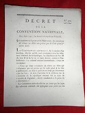 537 LOI & DECRET CONVENTION NATIONALE 1793 PEINE DE LA DÉPORTATION CODE PÉNAL