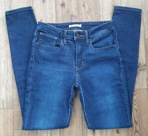 Ladies Levis 721 High Rise Skinny Jeans size 8 - 10 Waist 27 leg 31 Levi jeans