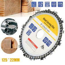 5'' inch Grinder Chain Disc 22mm Arbor 14 Teeth Wood Carving Disc Kit For 125mm