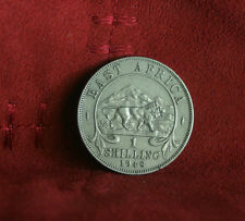 1948 East Africa 1 Shilling World Coin KM31 Lion animal Mountains King George VI