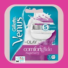 Gillette Venus Olay Confort Glide Sugarberry Woman S 3 Rasoir Lame Recharge Neuf