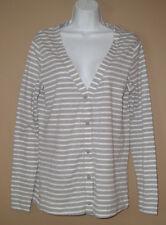 Womens Size Small Long Sleeve Fall Fashion Striped Casual Cardigan Top Shirt