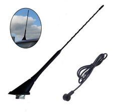 Universal Schwarz 41 cm DIN Dach Autoantenne mit Fuß und Kabel für Hyundai *****