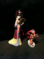 Disney Princess Mulan Mushu & Cricket Christmas Ornament PVC  Asian Dress