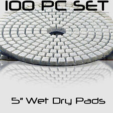 Diamond Polishing Pads 5 Inch Wet Dry Set For Granite Concrete Marble 100 Piece